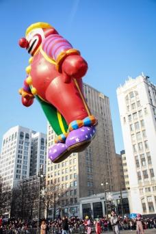 Thanksgiving clown balloon